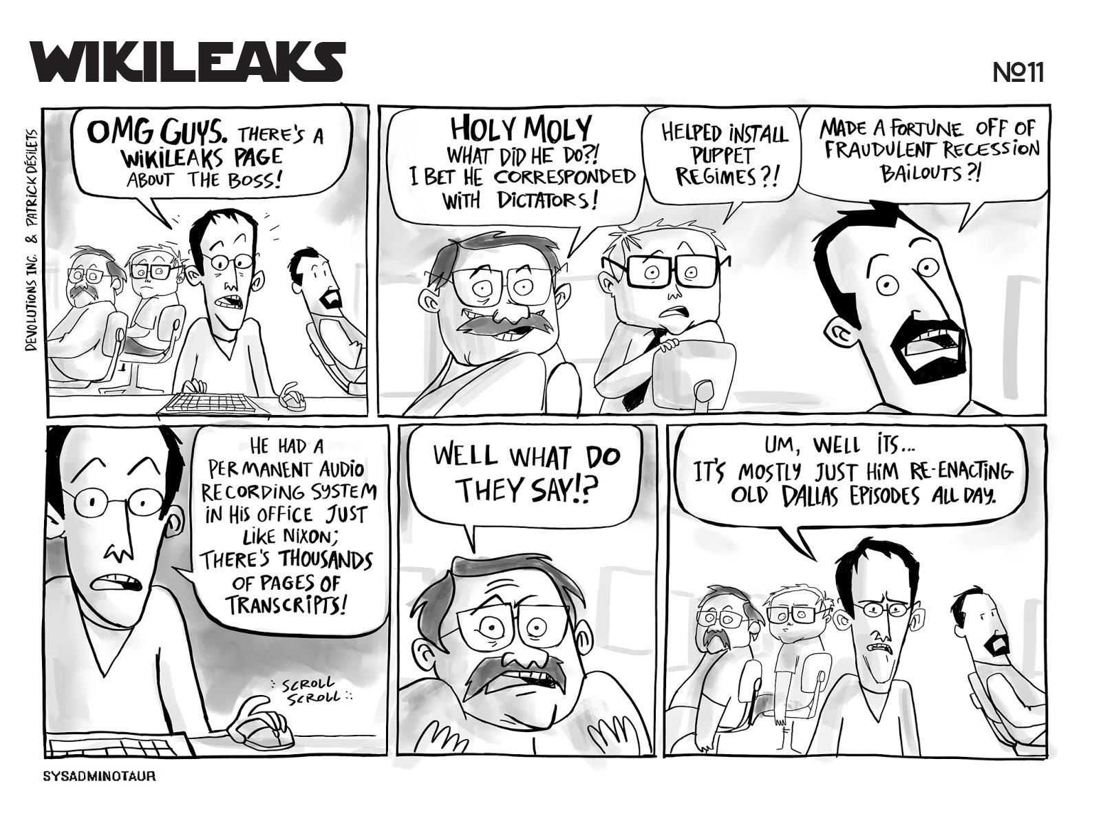 sysadminotaur-011-wikileaks