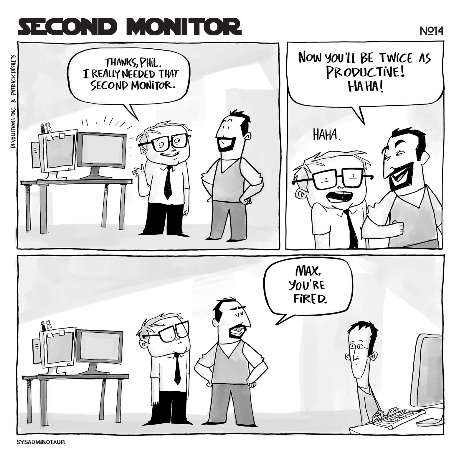 sysadminotaur-014-second-monitor