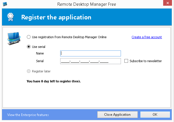 RDM Free Edition registration process - The Devolutions Blog