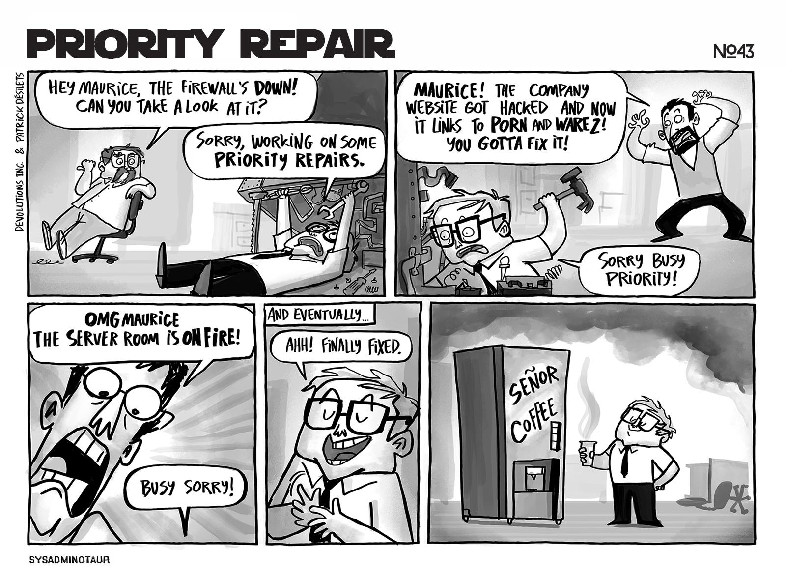 sysadminotaur-043-priority-repair