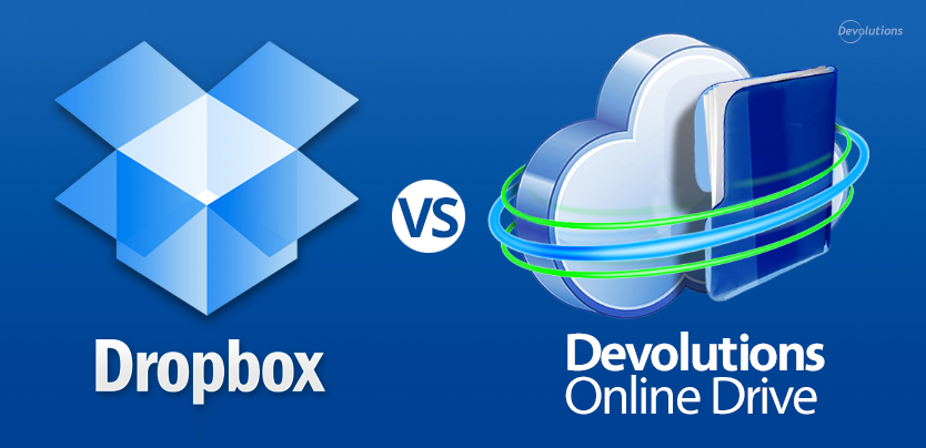 Dropbox VS Devolutions Online Drive
