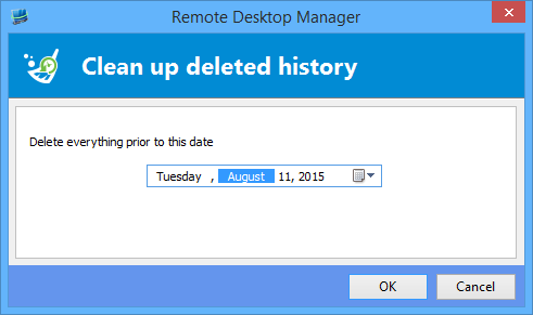 how to delete all of your history in one go