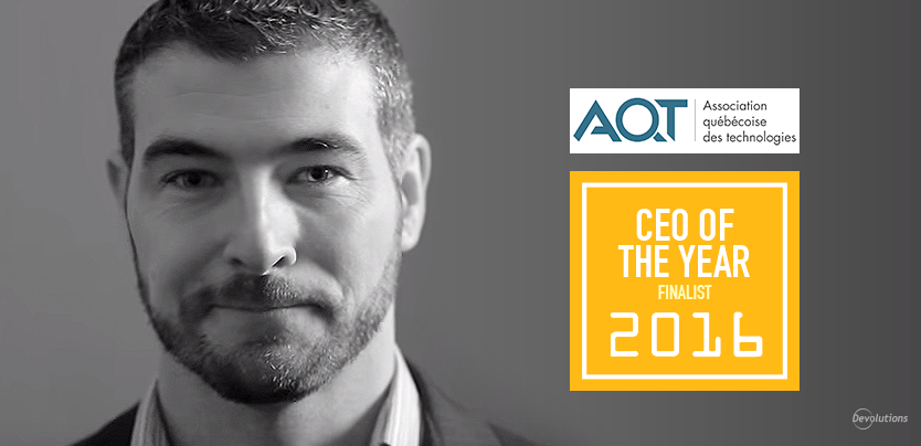 """Devolutions CEO David Named Finalist for """"CEO of the Year"""""""