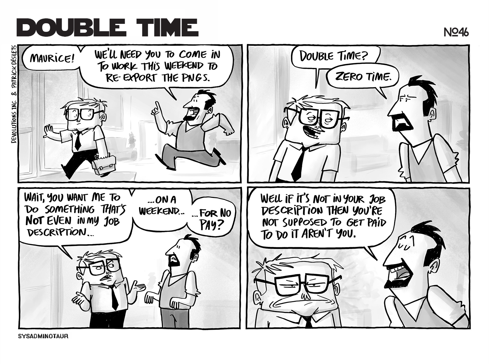 Sysadminotaur #46 - Double Time