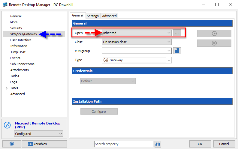 Inheriting Credentials in Remote Desktop Manager - The Devolutions Blog