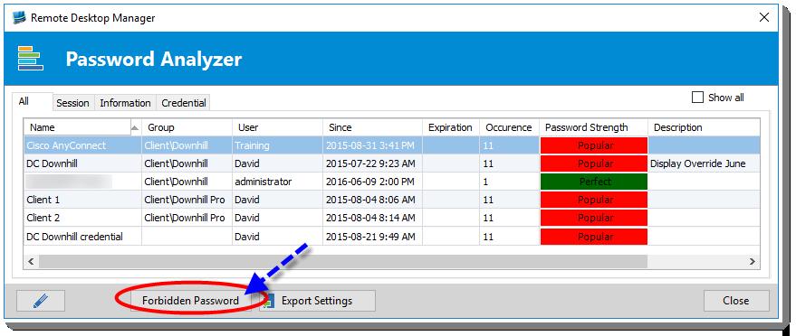 RemoteDesktopManager - PasswordAnazlyzer3