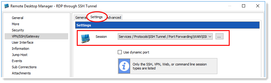 How To Configure Ssh Tunnel In Remote Desktop Manager The