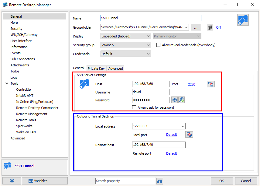 RemoteDesktopManager - SSHTunnel6