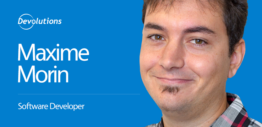 Meet Maxime Morin, our New Web Software Developer!