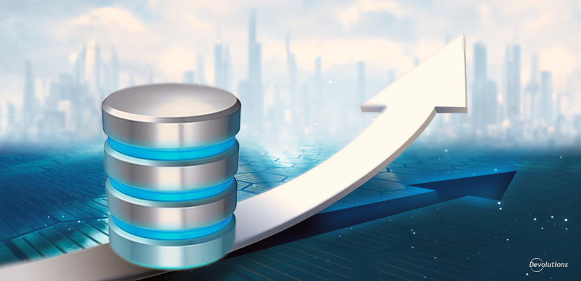 Why is a database upgrade sometimes required when using Remote Desktop Manager?