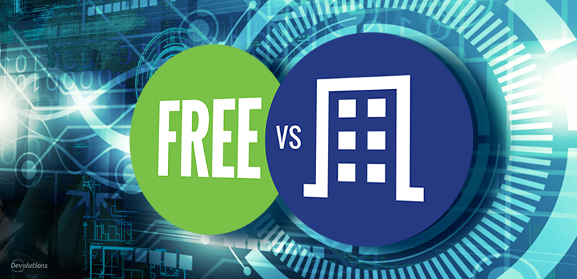 Remote Desktop Manager Free vs Enterprise
