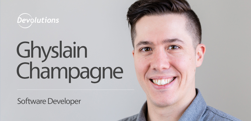 Meet Our New Wayk Now Software Developer Ghyslain Champagne!