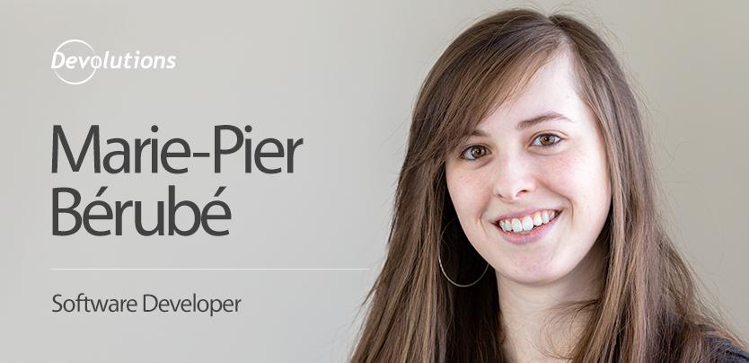 Meet Our New Software Developer, Marie-Pier Bérubé