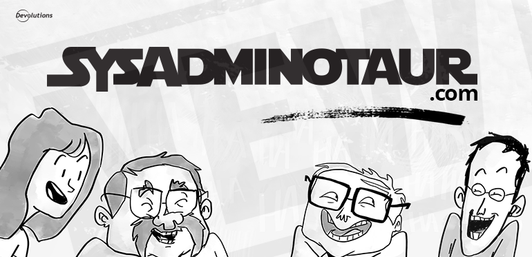 Sysadminotaur Comic Strip New Website