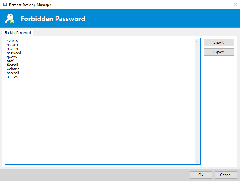 PsswPoliciesRDM_ForbiddenPassword