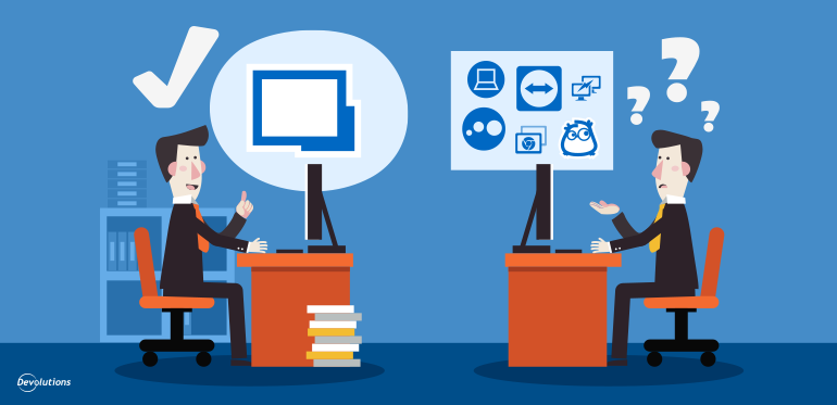 Overview: Remote Desktop Solution vs. Remote Desktop Management Solution