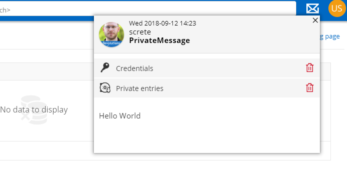 Secure Messaging Screenshot