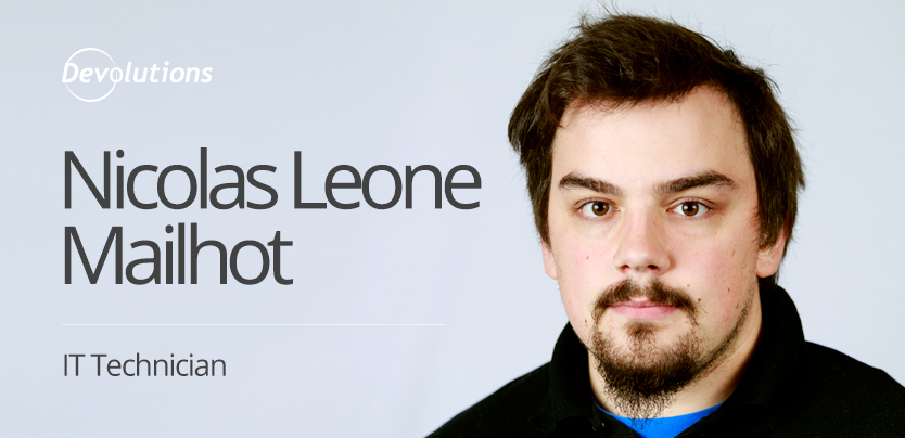 Interview Nicolas Leone Mailhot IT Technician