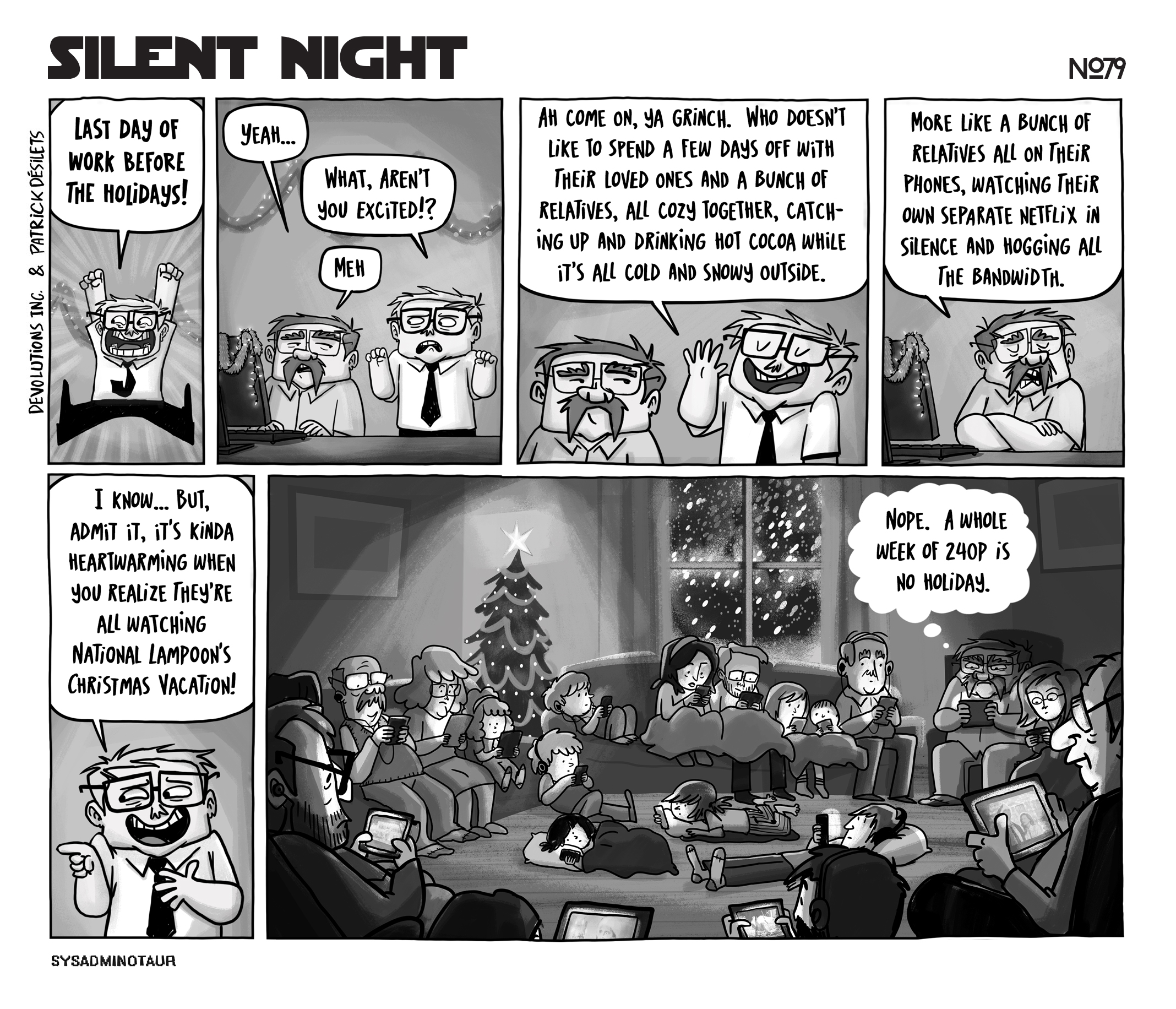 sysadminotaur 079 silent night