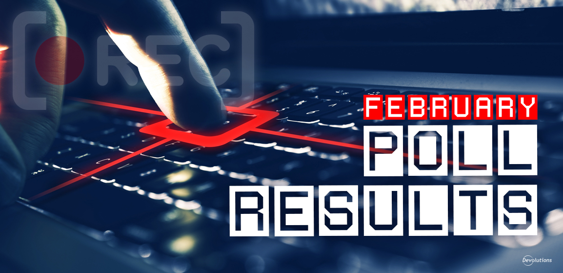 Poll February Organization Using Session Recording Results