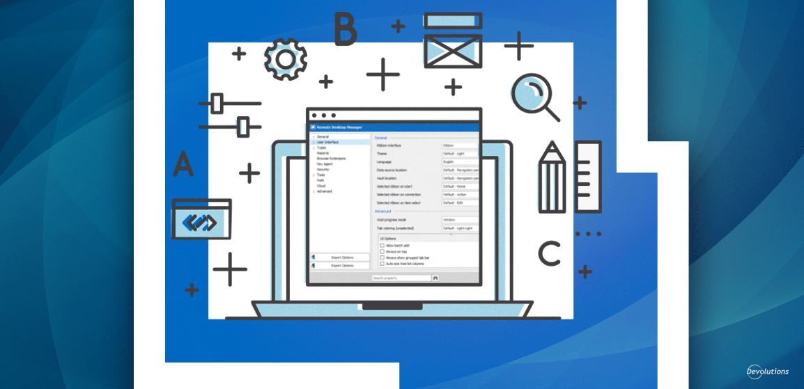 The Basics: Remote Desktop Manager User Interface Settings