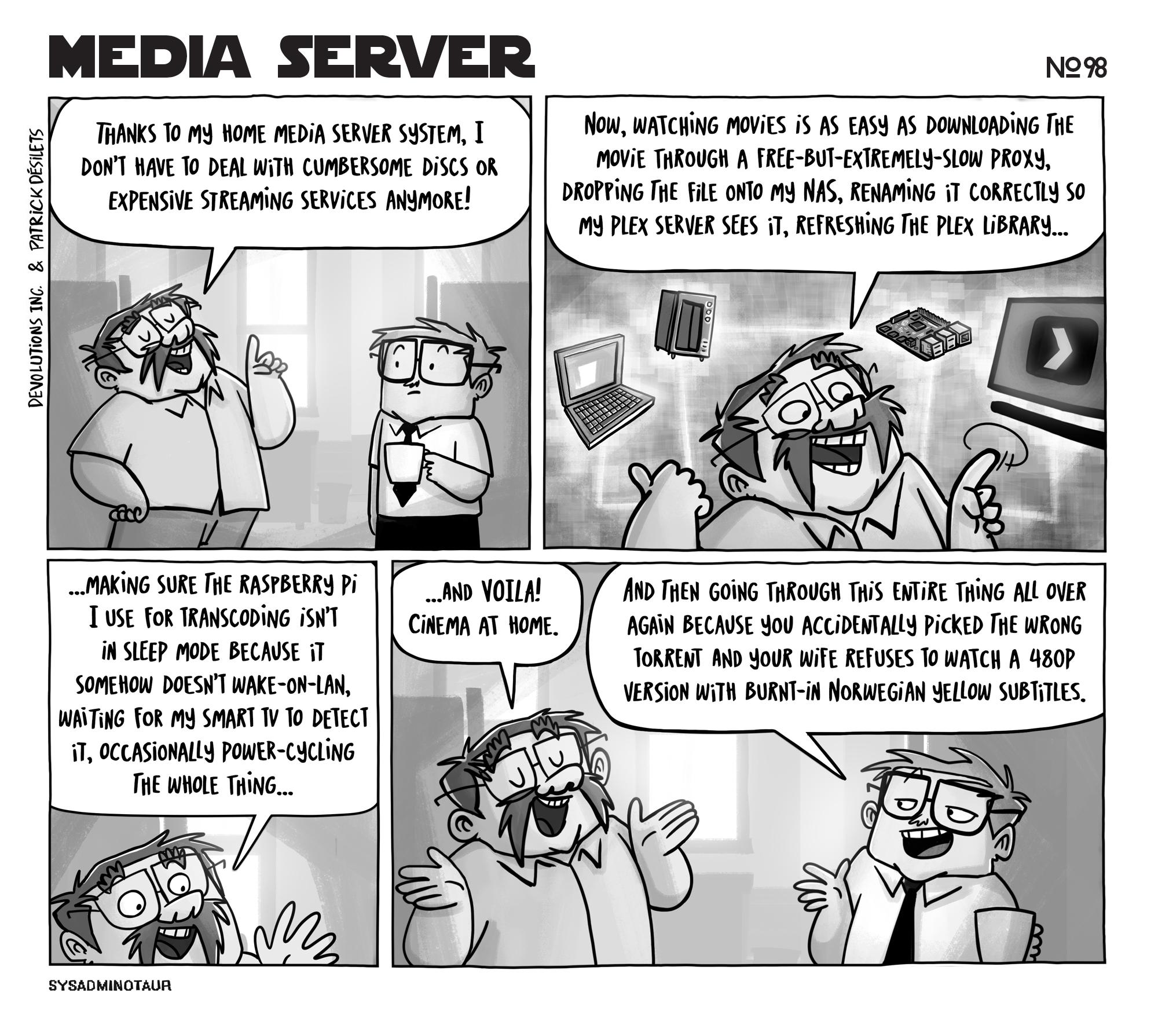sysadminotaur-098-media-server