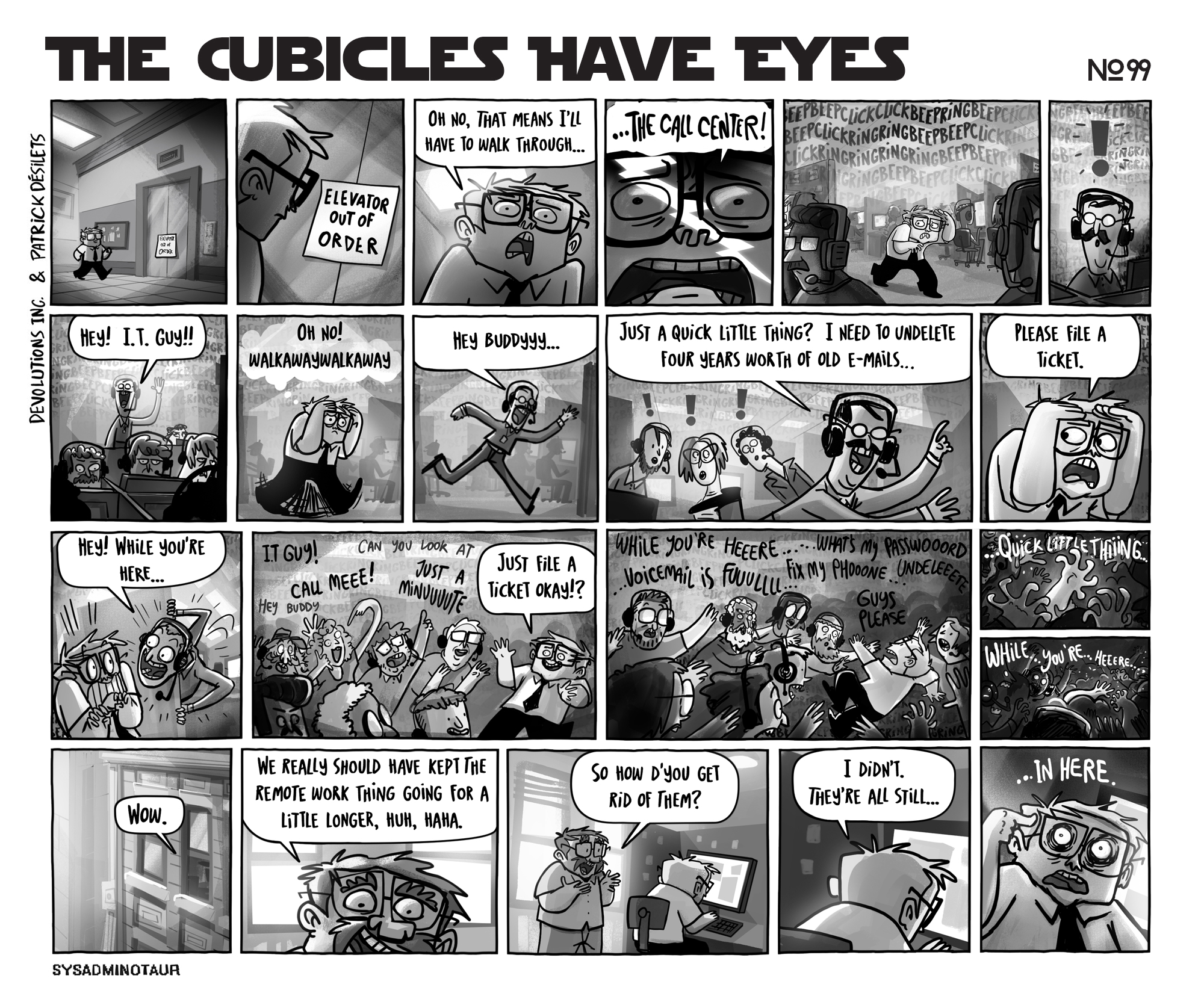 sysadminotaur-099-the-cubicles-have-eyes