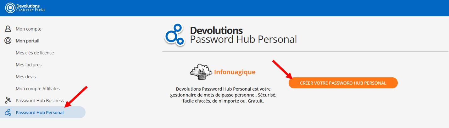 passwordhub portailclient