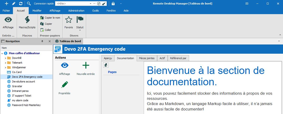 rdm user doc vault fr