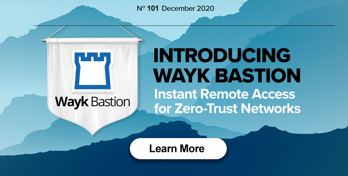 Introducing Wayk Bastion: Instant Remote Access for Zero-Trust Networks