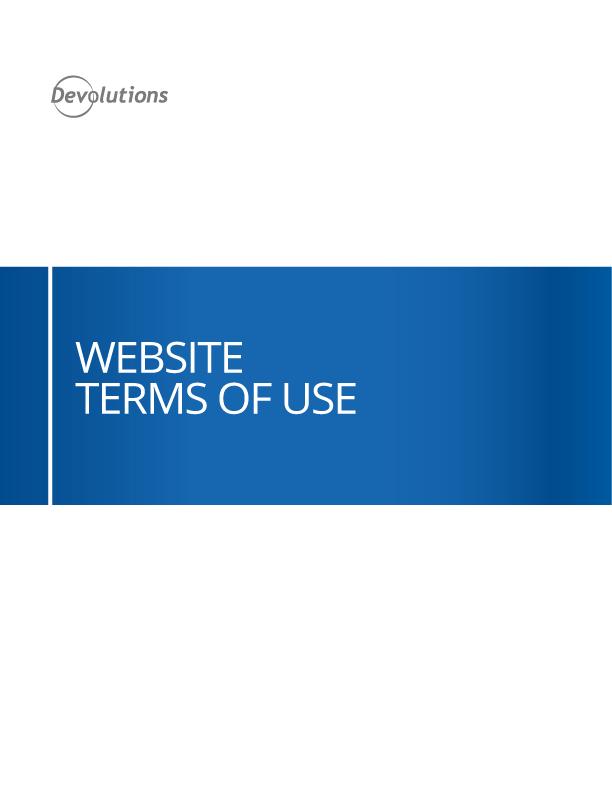 Website Nutzungsbedingungen