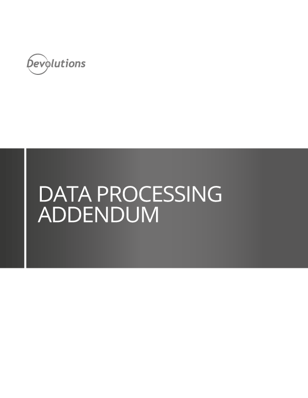 Data Processing Addendum
