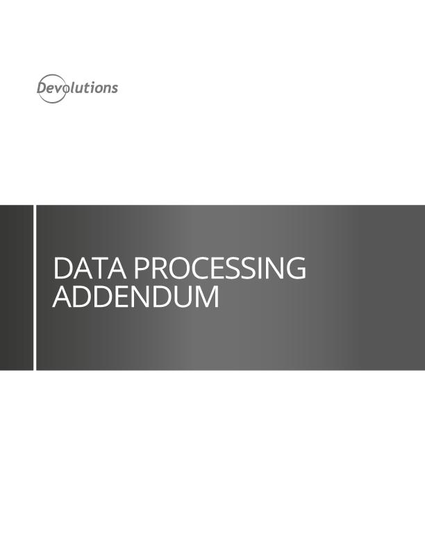 Anhang zur Datenverarbeitung
