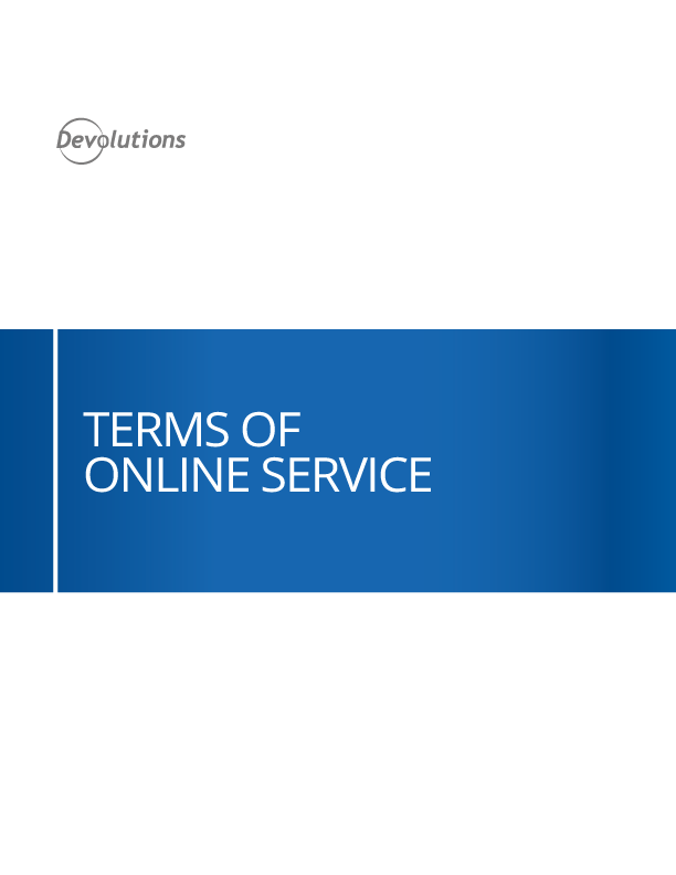 Terms of Online Service