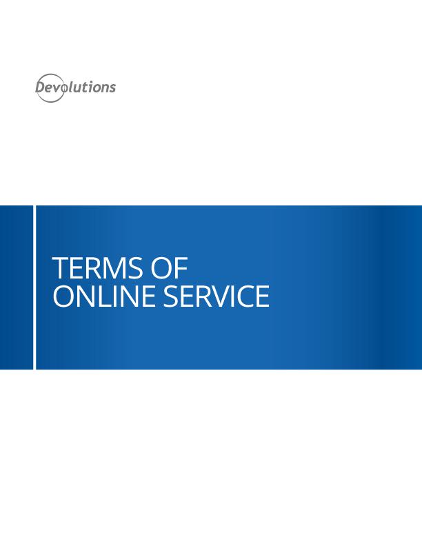 Nutzungsbedingungen für Onlinedienste