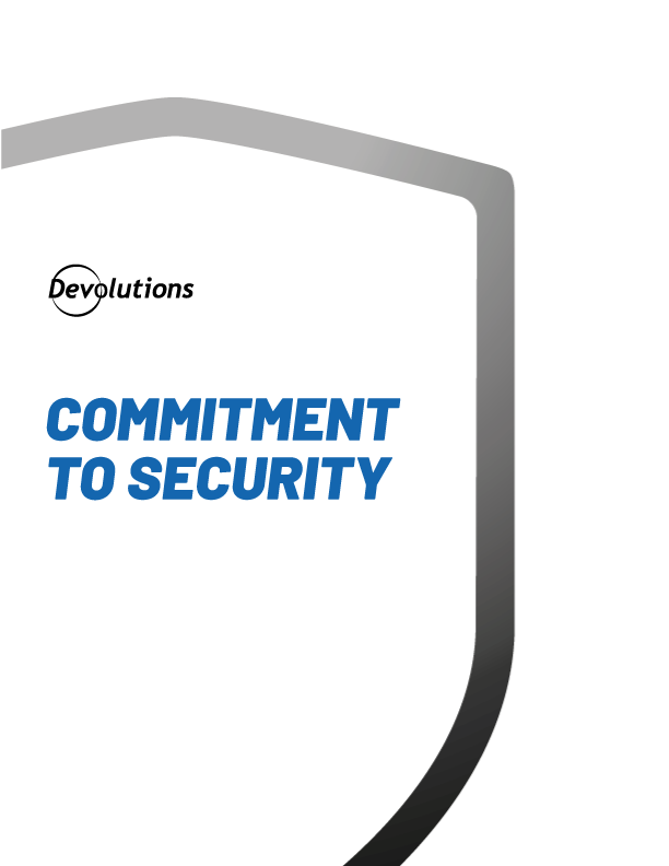 Commitment to Security