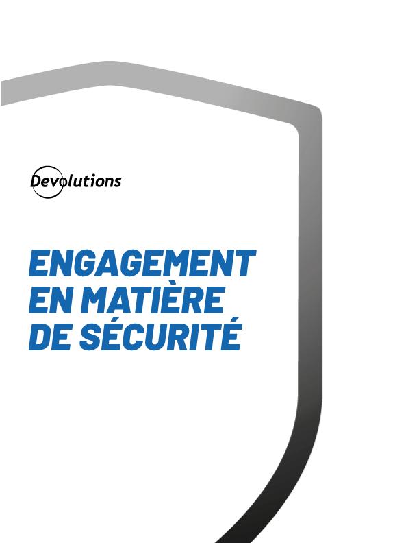 Engagement en matière de sécurité