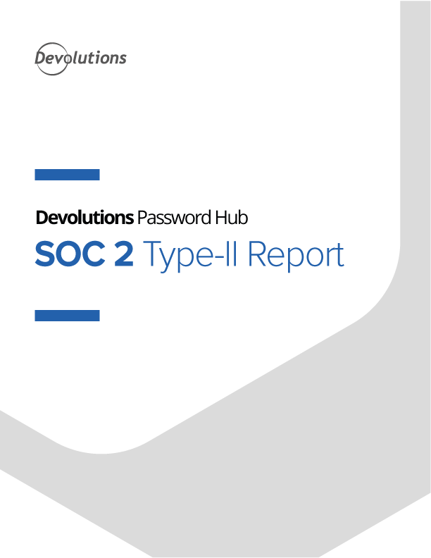 Rapport SOC 2 de type II de Devolutions