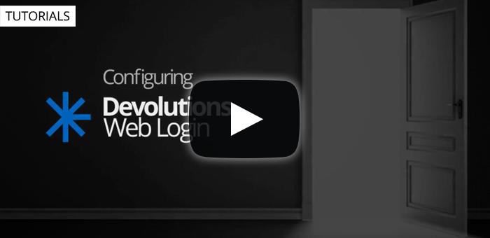 Configuring Web Login with Devolutions Password Server