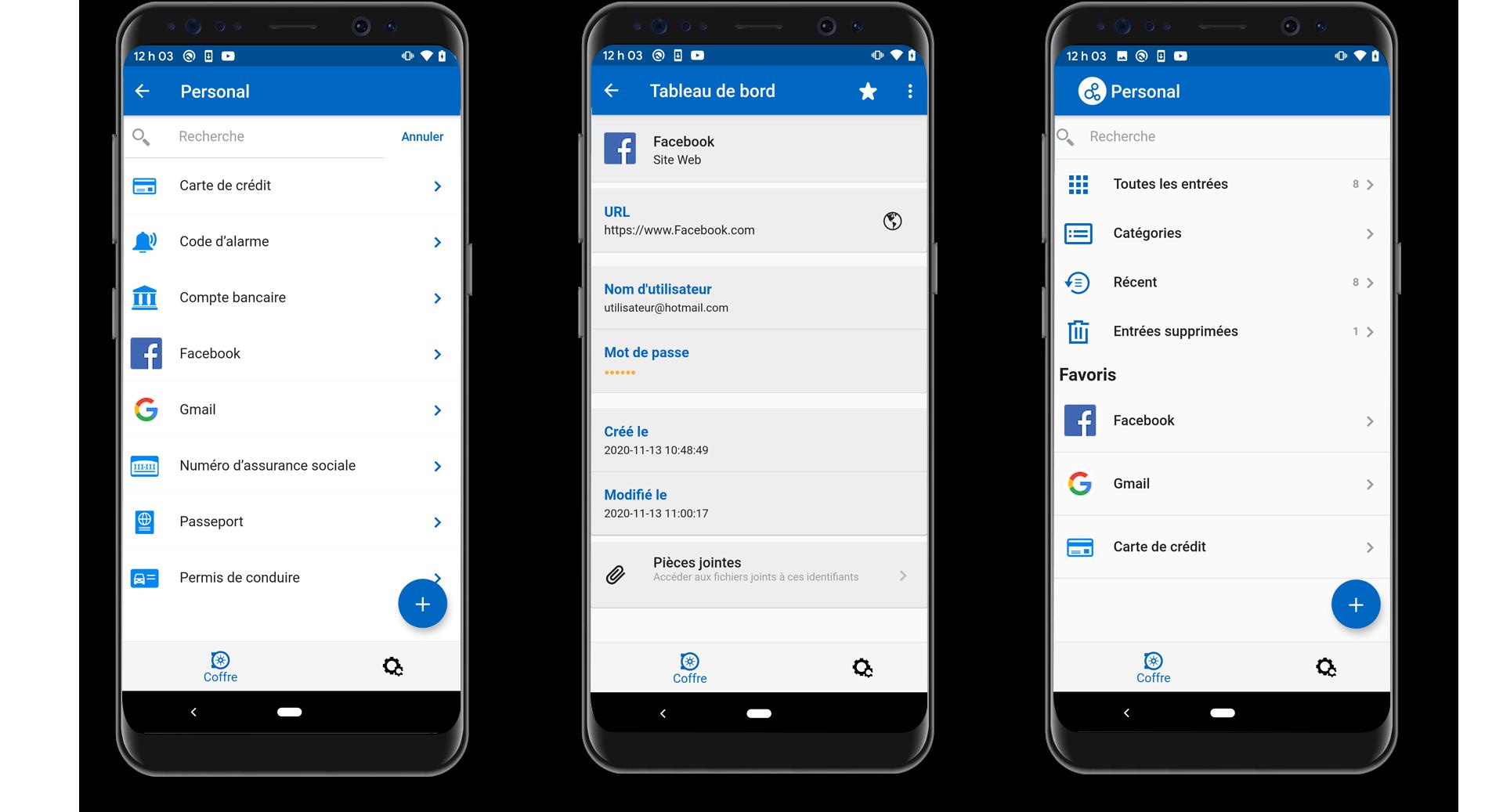 Gérez vos mots de passe personnels et données sensibles depuis votre appareil Android - Password Hub Personal
