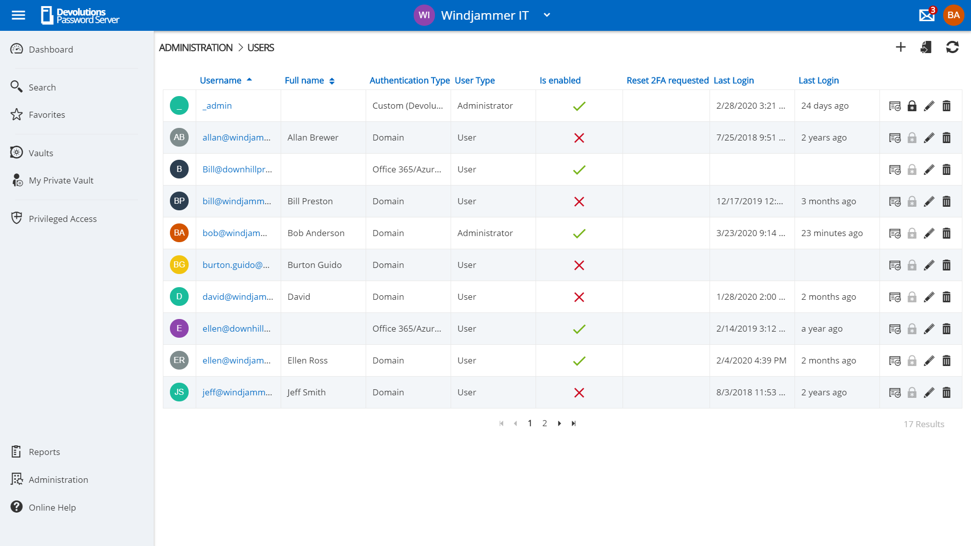 Devolutions Password Server Control Access