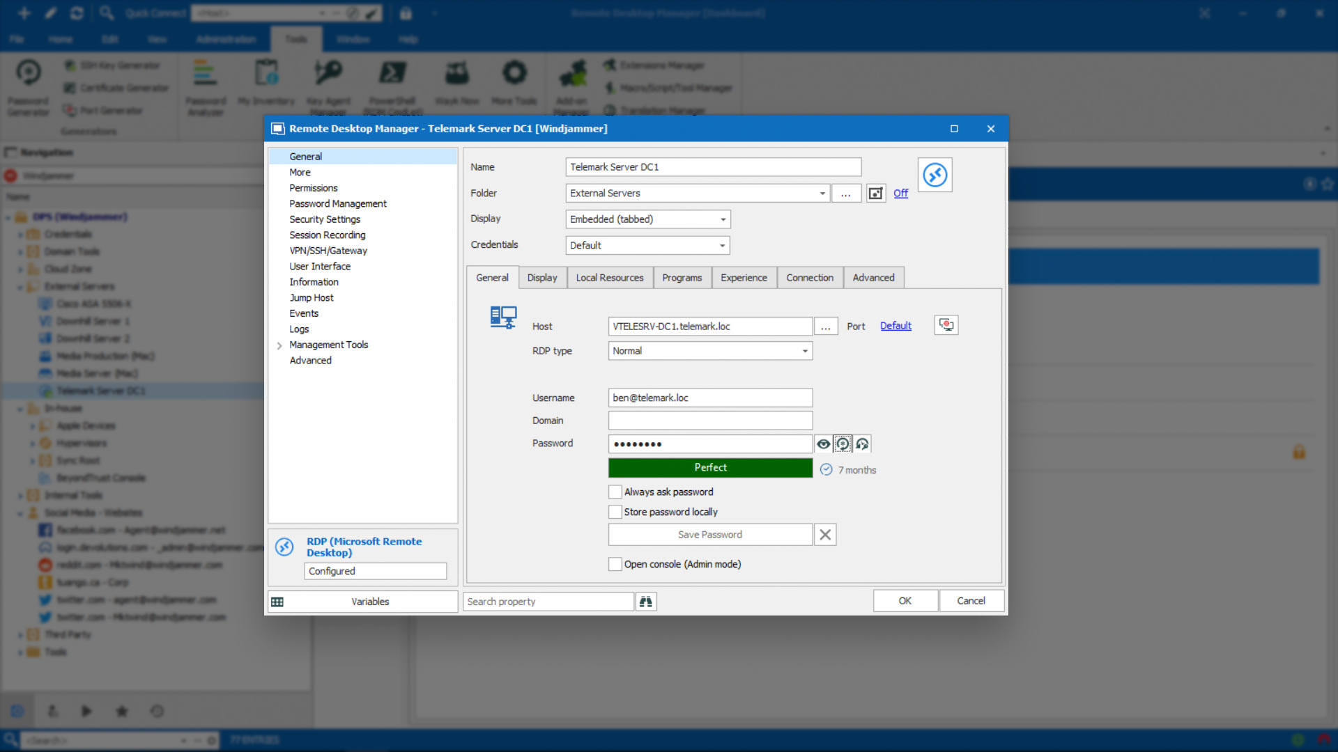Fully Customize Entries to Suit Your Needs - Remote Desktop Manager