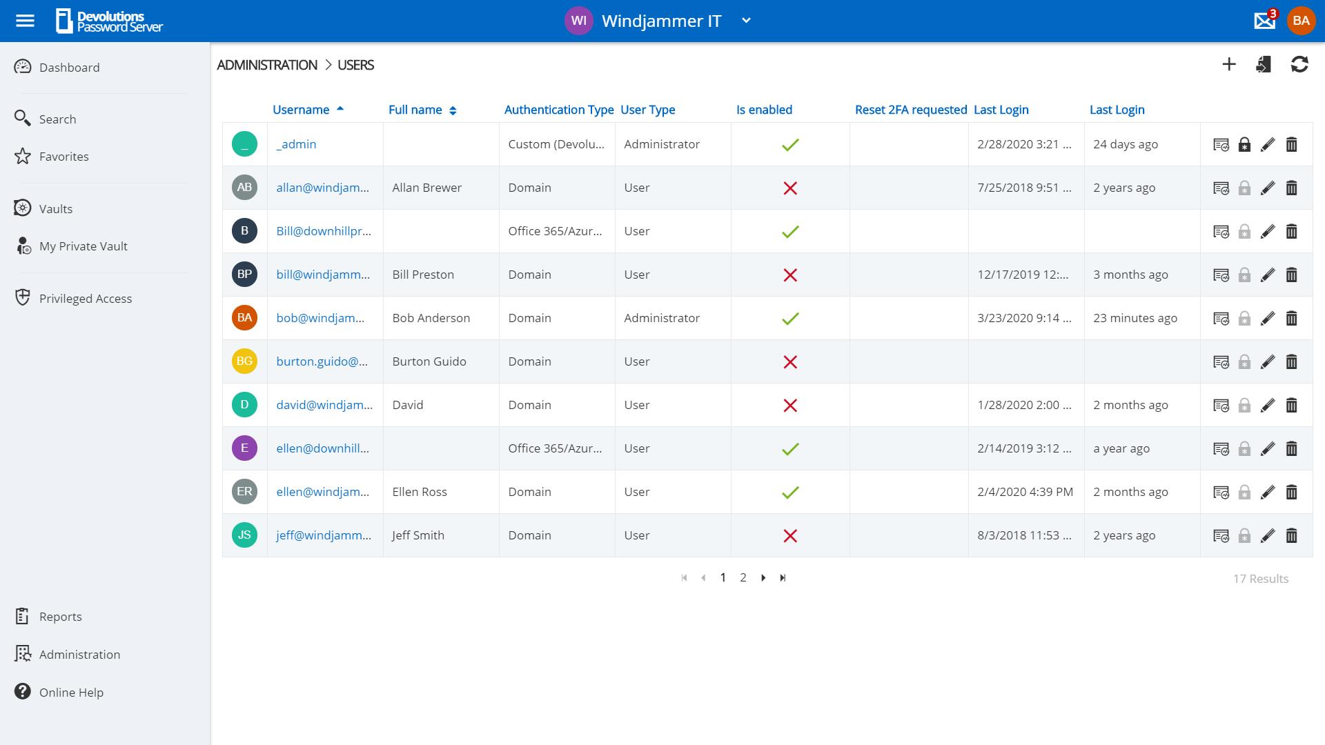 Devolutions Server Contrôlez les accès aux ressources clés grâce au système de contrôle d'accès basé sur des rôles