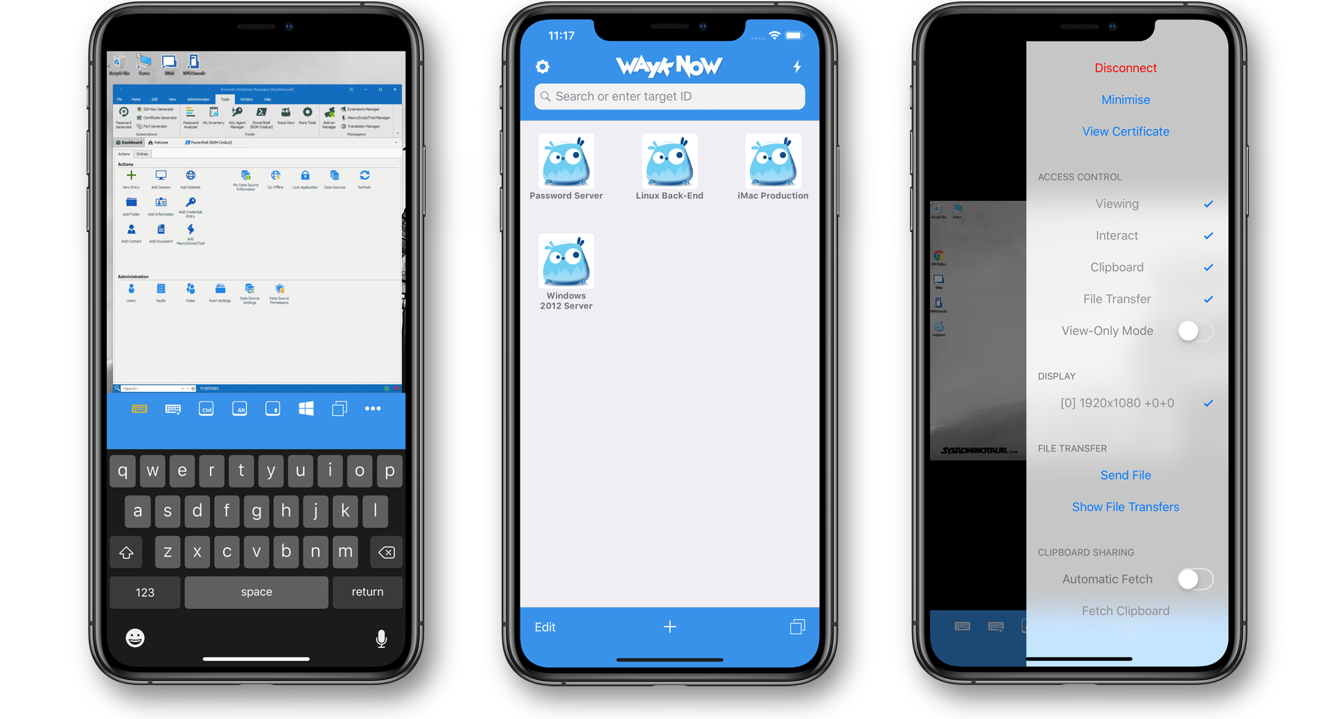 Remotely Access Multiple Devices from Your iPhone or iPad - Wayk Now