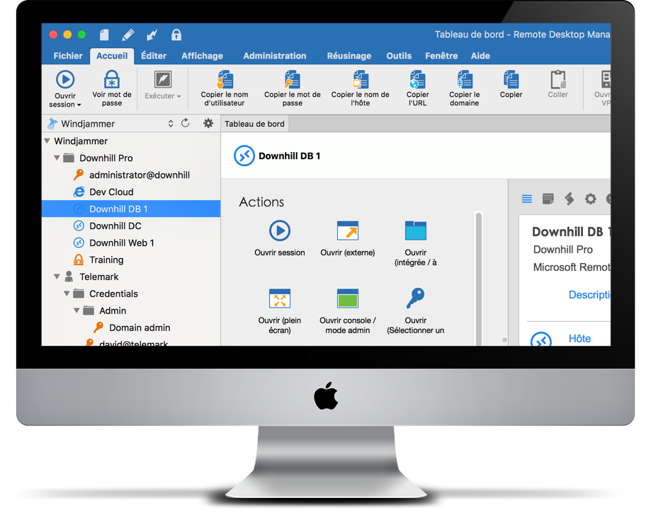 Remote Desktop Manager Mac Main Screen
