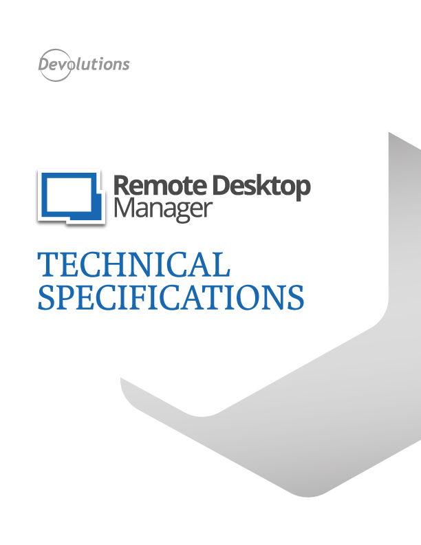rdm Technical Specifications pdf