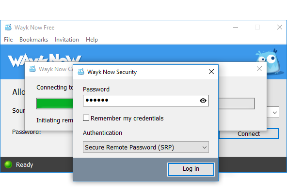 Screenshot Wayk Now Security