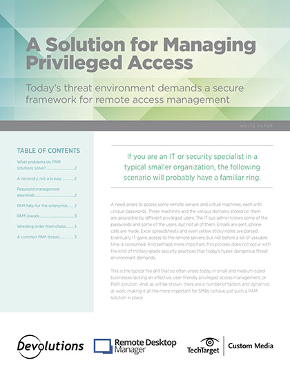 A Solution for Managing Privileged Access