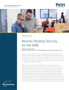 Remote Desktop Security for the SMB