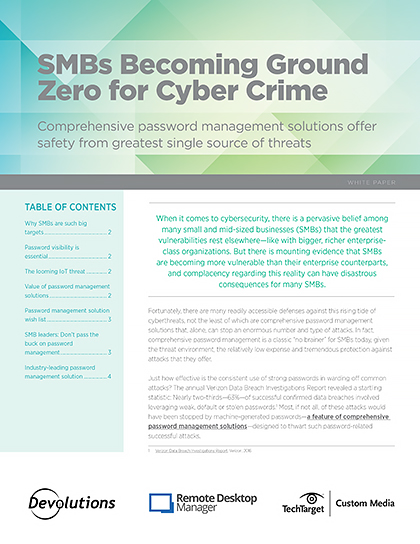 SMBs Becoming Ground Zero for Cyber Crime